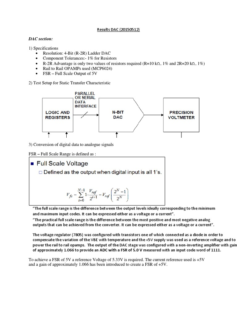 Results Ene310 Practical 3 20150511 Adc Sectionpdf Analog To Working Of 4 Bit R 2r Ladder D A Converter Circuit 1 Technical Digital Signal Noise Ratio