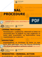 HLAF Criminal Procedure Tagalog