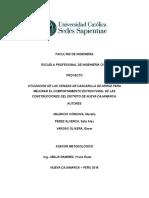 Utilización de Las Cenizas de Cascarilla de Arroz Para Mejorar El Comportamiento Estructural de Las Construcciones Del Distrito Denueva Cajamarca