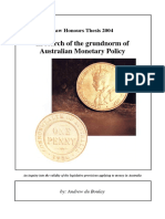 In Search of the Grundnorm of Australian Monetary Policy