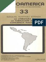 Martínez Estrada_La Literatura y La Formación de La Conciencia Nacional en CCL 33