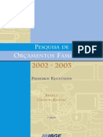 POF IBGE 2002-2003