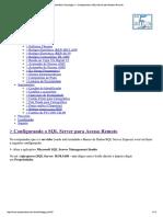 Configurando Acesso Remoto Ao Servidor SQL 2014