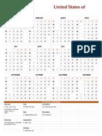 2017 US Holiday Calendar