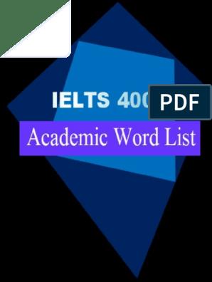 1ielts 4000 Academic Word List | International English Language