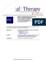 Delivery of Physical Therapy in the Acute Care Setting - A Population Based Study