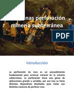 Maquinas de Perforación en Minería Subterránea