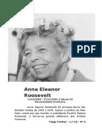 Pegadas Femininas Na História - Anna Eleanor Roosevelt - Tiago Freitas - Nr. 23 - 9º2