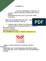 homework for week 23 feb 13 2017