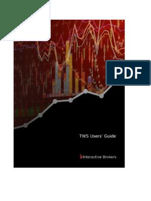 TWSGuide pdf | Order (Exchange) | Option (Finance)