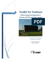 Toolkit for Turbines- Wind Development in Ontario and Nova Scotia