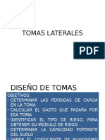 Diseño de Tomas Laterales