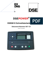 Dse8610 User Instructions