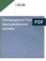 Roth, Heinrich - Pädagogische Psychologie des Lehrens und Lernens.pdf