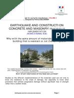 Earthquake and Construction Concrete and Masonry