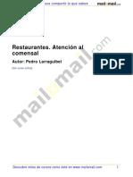 Restaurantes Atencion Comensal