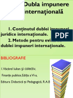 Tema 2. Dubla Impunere Internaţională