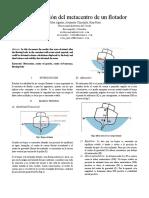 DETERMINACION DEL METACENTRO DE UN FLOTADOR.docx