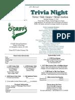 5th Annual Trivia Night 12.7.16
