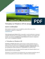 Virtualizar Xp de PC a VBox