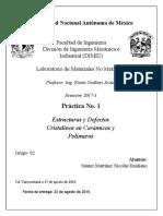 Práctica 1 Estructuras y Divisiones Básicas de Los Materiales