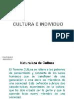 Cultura e Individuo