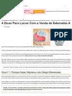 4 Dicas Para Lucrar Com a Venda de Sabonetes Artesanais _ Revista Artesanato