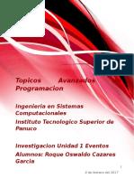 Topicos Avanzados de Programacion U1