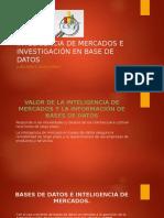 Inteligencia de Mercados e Investigación en Base de Datos