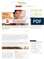 Rice Water for Face & Hair Wash