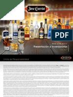 Presentacion  a inversionistas Jose Cuervo