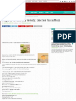 Viagra is Not the Only Remedy, Erection Tea Suffices - Sandra's Blog