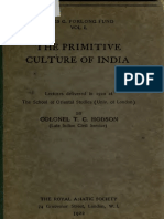 The Primitive Culture of India