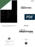 A Análise Da Arquitetura