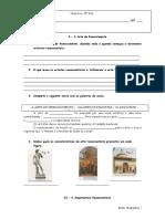 Ficha de Trabalho Historia - Renascimento