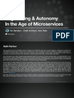 Engineering and Autonomy in the Age of Microservices - Nic Benders, New Relic