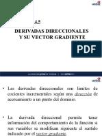 5.8 Derivadas Direccionales y Vector Gradiente