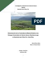 Determinación Contenidos de Materia Extraña en Las Entregas Comerciales de Caña de Azúcar (Saccharum Spp)