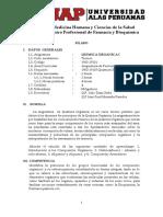 Silabo Química Orgánica I - UAP