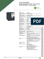 Schneider Electric ATV312HU40N4 Datasheet