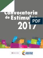 0. Convocatoria de Estímulos 2017