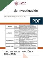 Tesis I -Tipos de Investigación