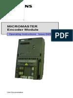 Lab. de Manufactura Siemens Micromaster Instrucciones de Operacion