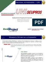 3. Evalucación de Proyectos de Inversión