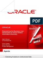 CON9255 - Empowering the Business User - Introduction to Oracle Endeca Information Discovery