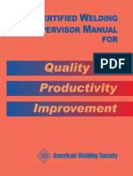 AWS - CMWS-2005 - Certified Welding Supervisor Manual for Quality and Productivity Improvement