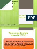 Técnicas de Energia Muscular fisioterapia