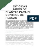Biopesticidas Obtenidos de Plantas Para El Control de Plagas