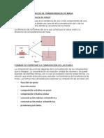 1.1 Conceptos Basicos de Transferencia de Masa