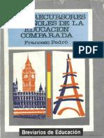 Los Precursores Españoles de La Educación Comparada